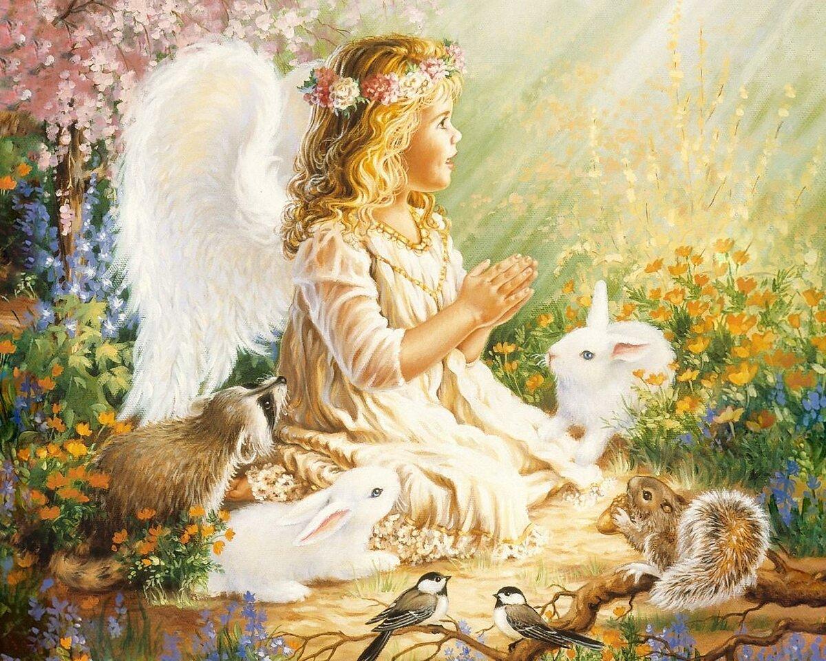 Салют день, красивые открытки и картинки с ангелами