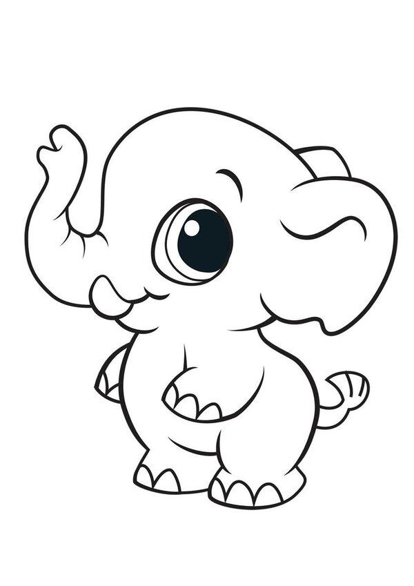 Раскраска слоники распечатать картинки кто
