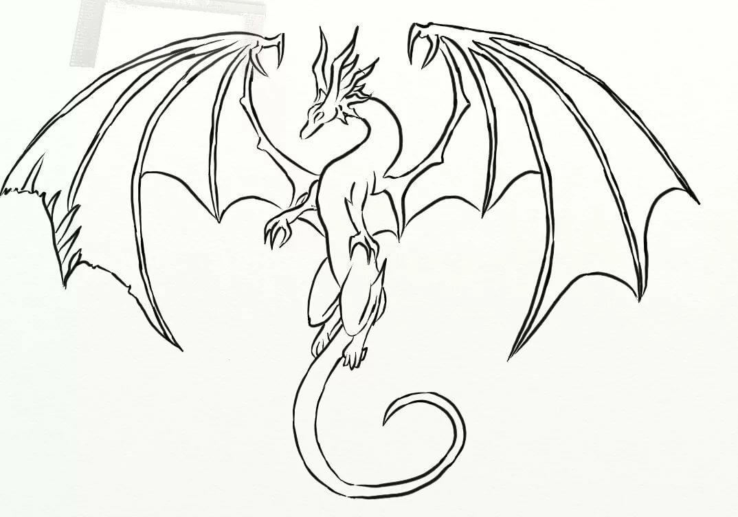 Как рисовать дракона на открытку, открытки