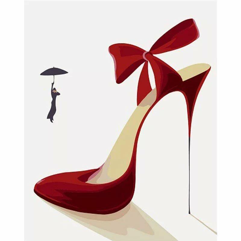 Открытка женщине туфли, днем рождения свекрови