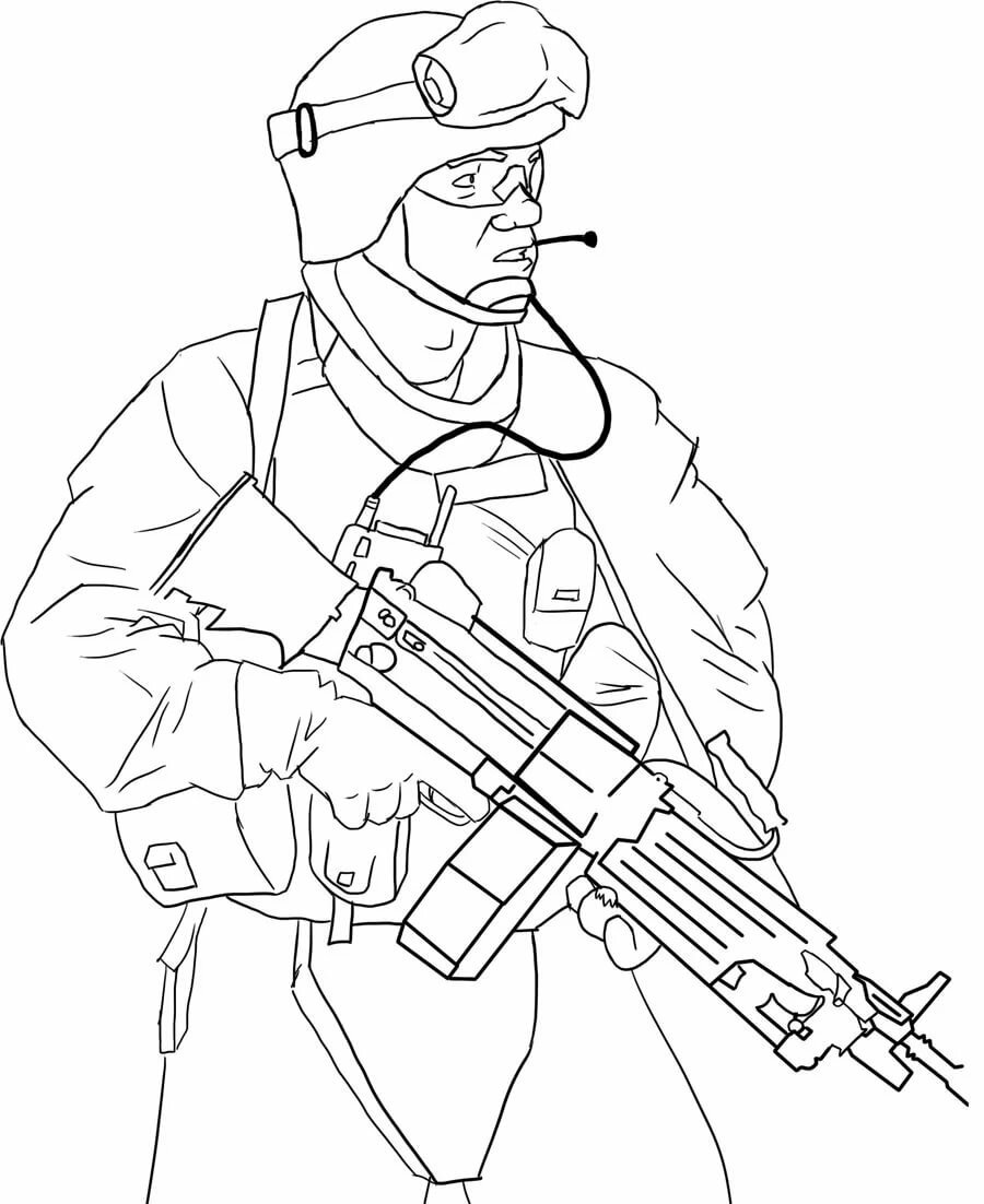 Картинки солдат в карандаше