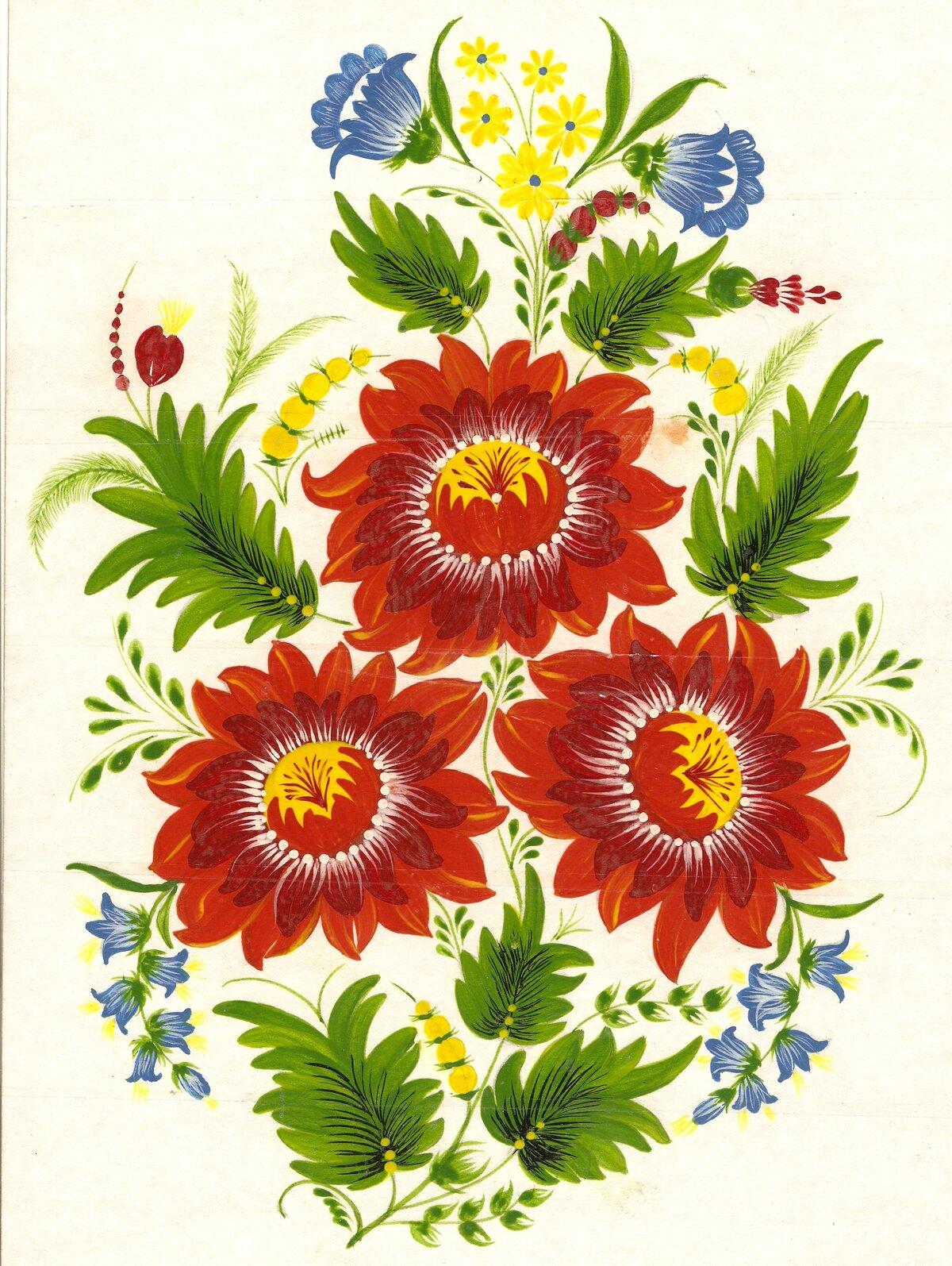 Петриковская роспись картинки цветы, своими руками