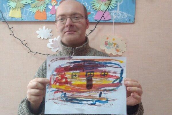 Монотипия или «веселые кляксы» в мультстудии «Счастливая Жирафа» Алчевской духовной лечебницы