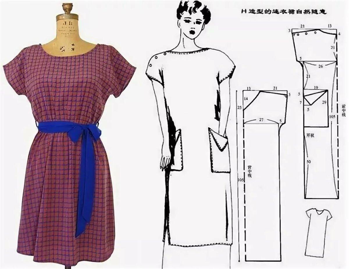 платья в домашних условиях сшить в картинка просто