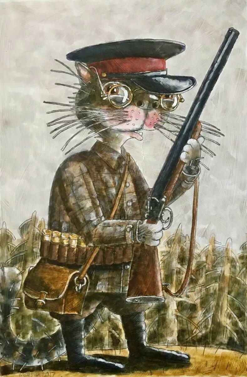 Картинка, открытки охотник
