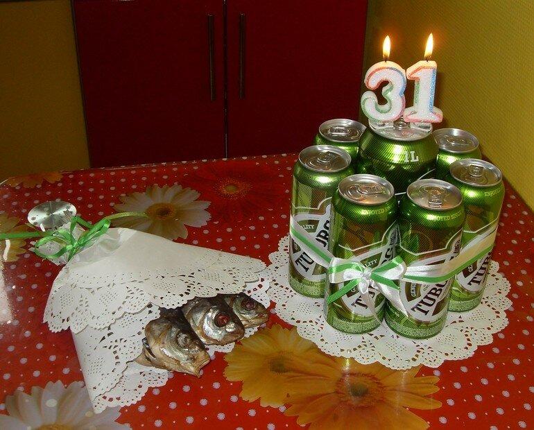 Картинка торт из пива и рыбы