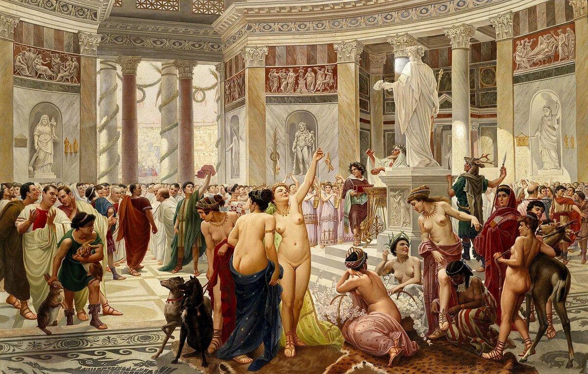 Оргия три древний рим, на веб камеру раздеваются до гола девушки смотреть онлайн
