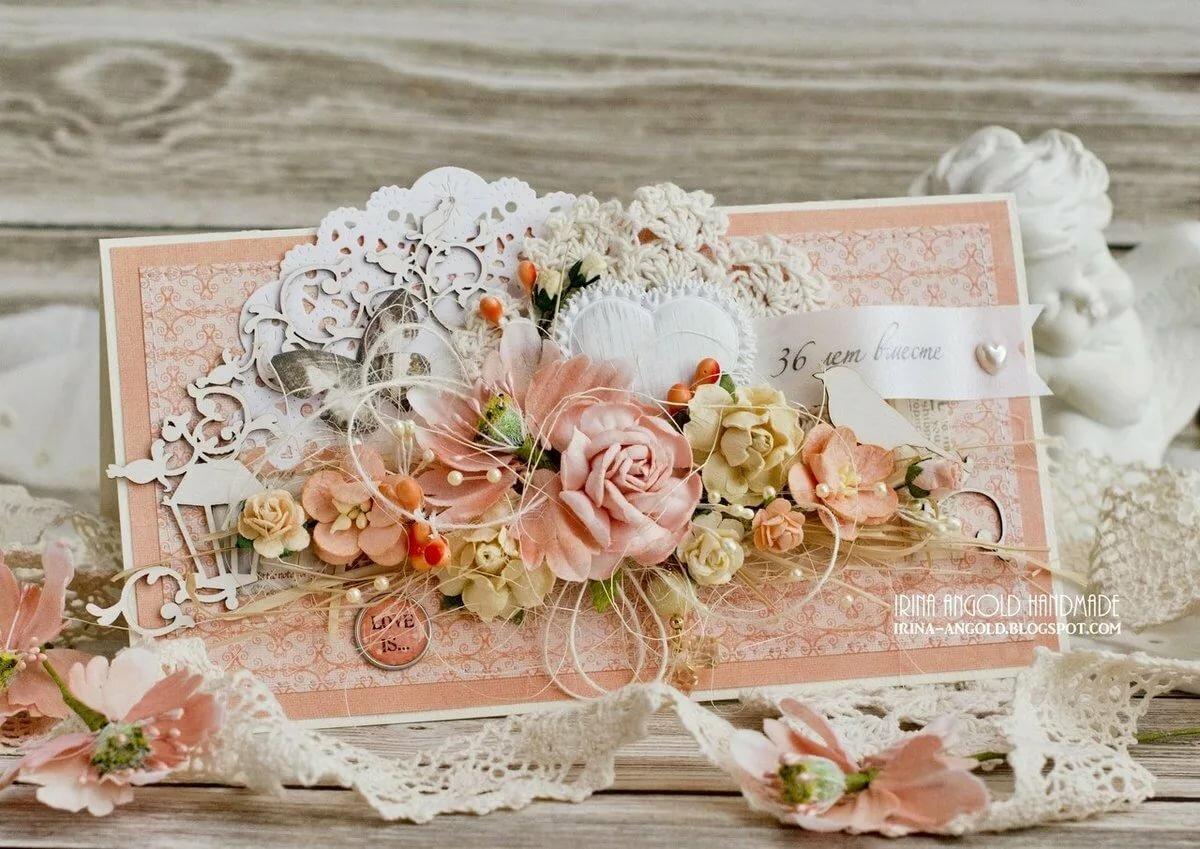 Открытка со свадьбой скрап