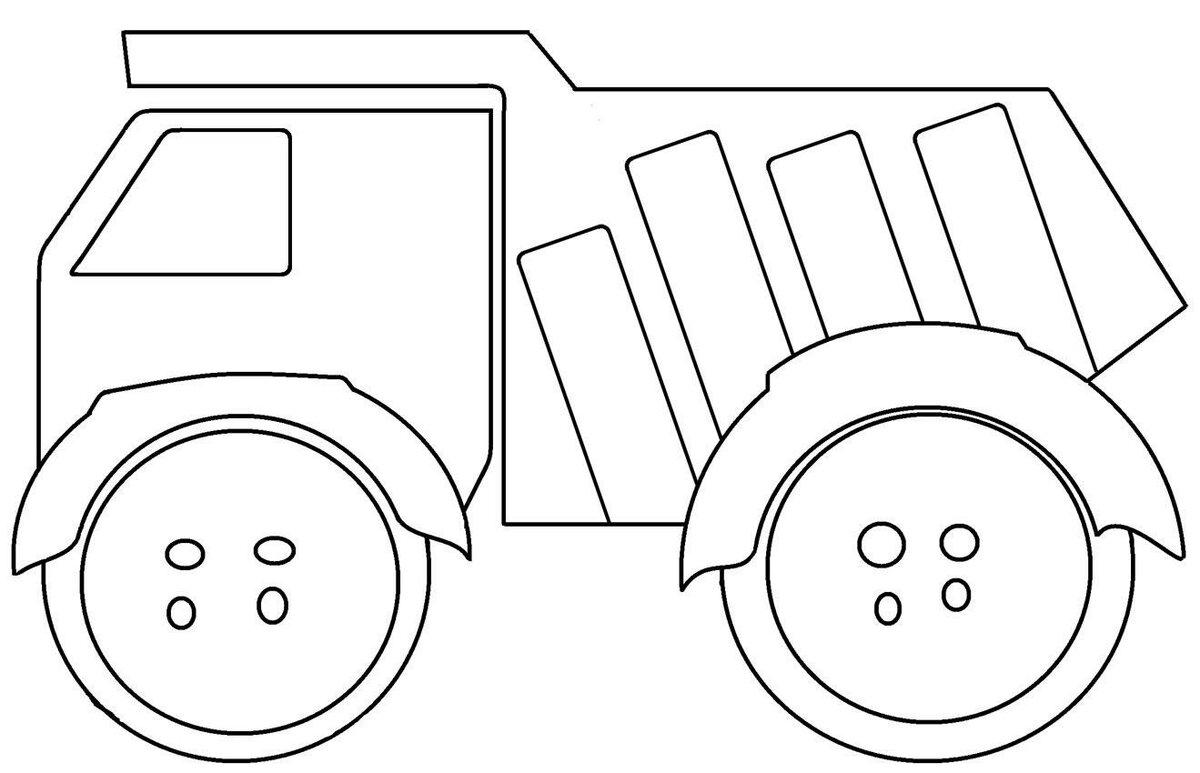 Картинка раскраска машинка без колес ещё один