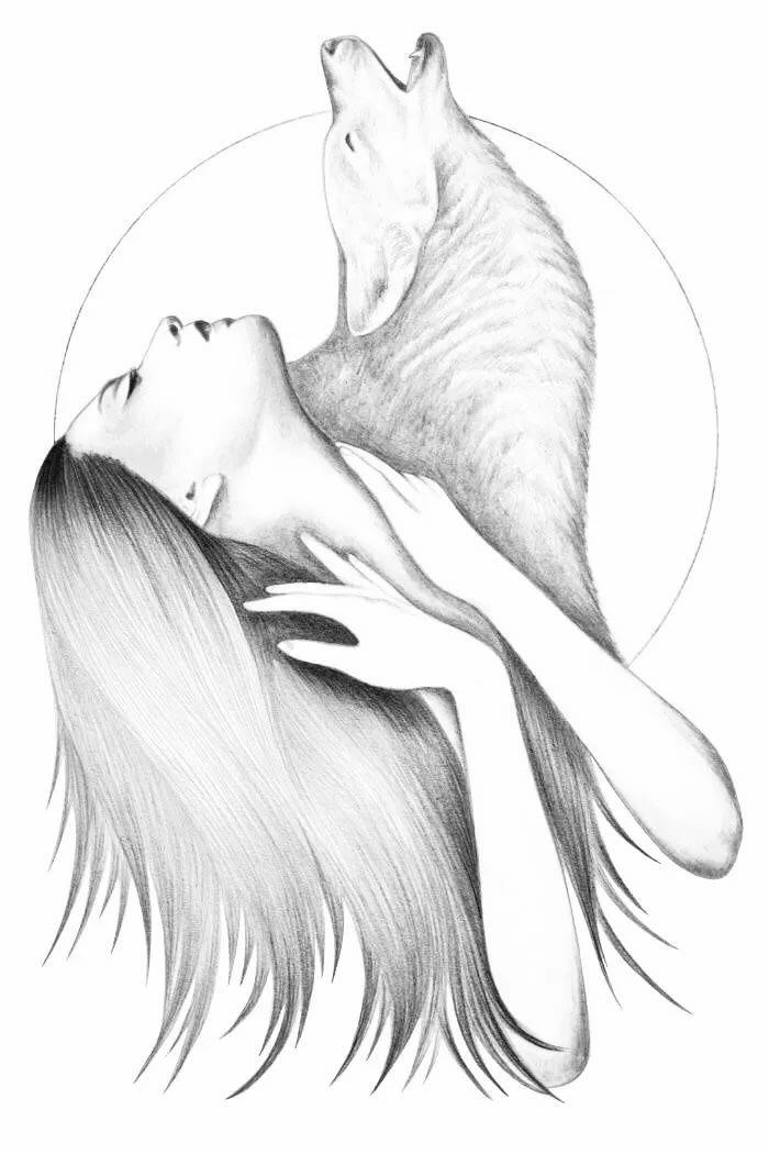 Рисунки для срисовки лиса девушка