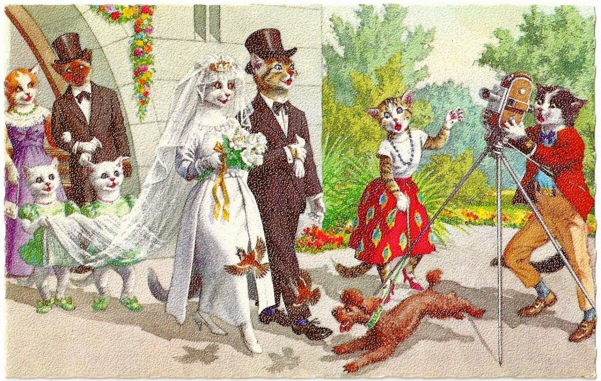 Свадебные открытки советские, новый год