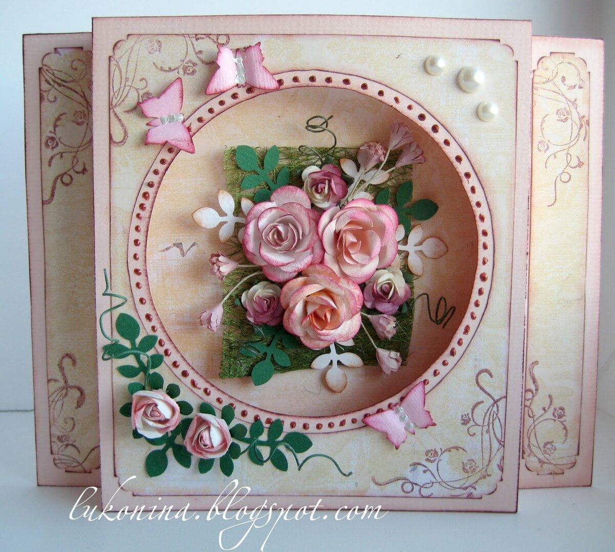 Шаблоны открыток с днем рождения женщине скрапбукинг