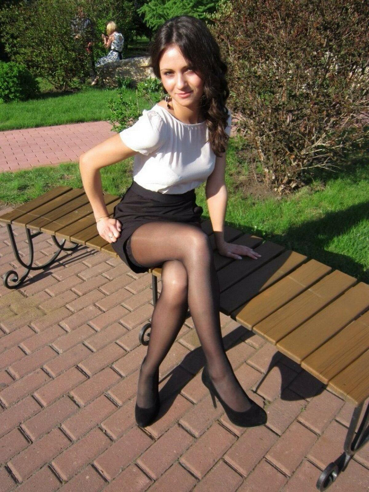 Девушки в колготках и юбках смотреть — 5