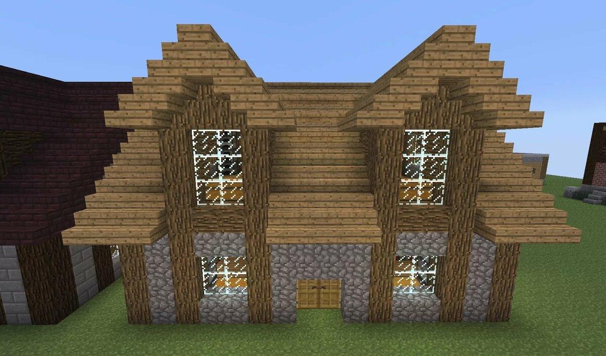 Уютные дома в майнкрафте с фермой