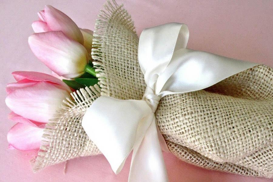 Поздравительная открытка с льняной свадьбой, галина