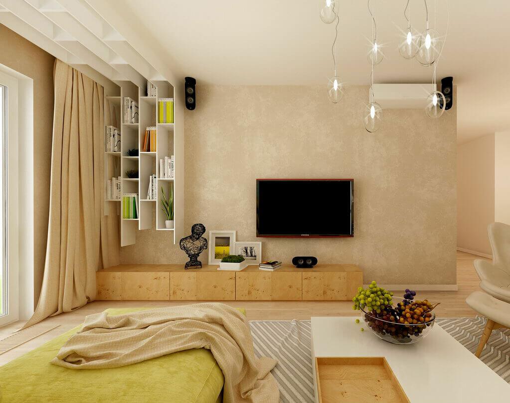 тем пример дизайна однокомнатной квартиры фото материал обладает хорошими