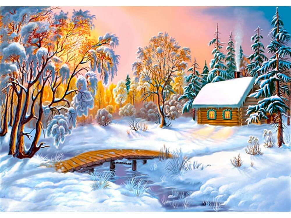 Открытка деду, картинки сказочный лес зимой