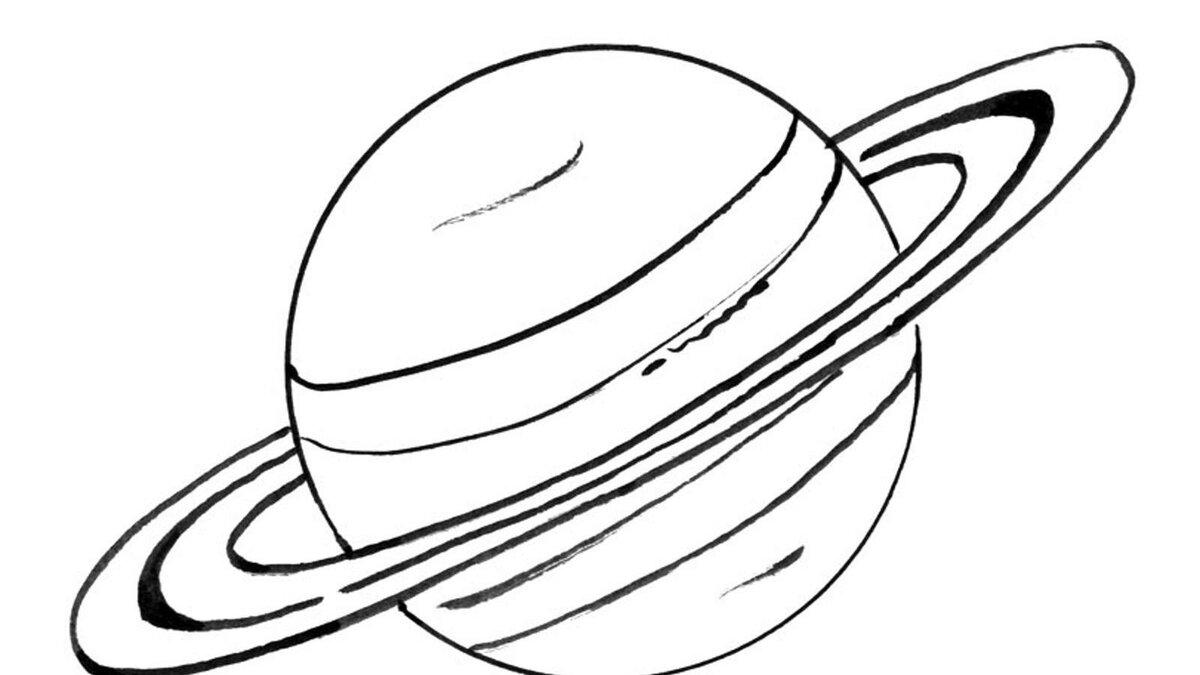 Картинки планет для раскрашивания