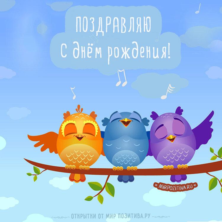 Картинки, открытки для девушек птички