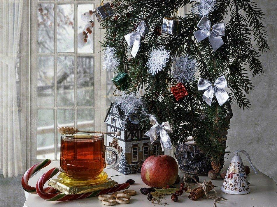 зимние картинки с чаем и елкой приворожить жену