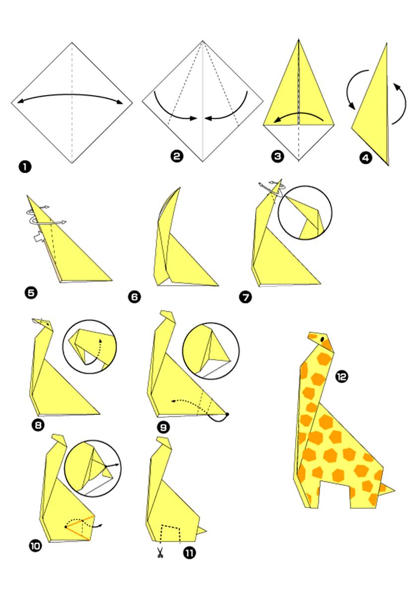 Картинки схемы оригами для начинающих