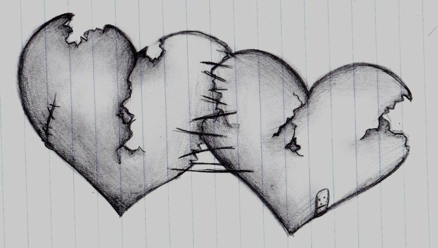 Рисунок сердца карандашом картинки