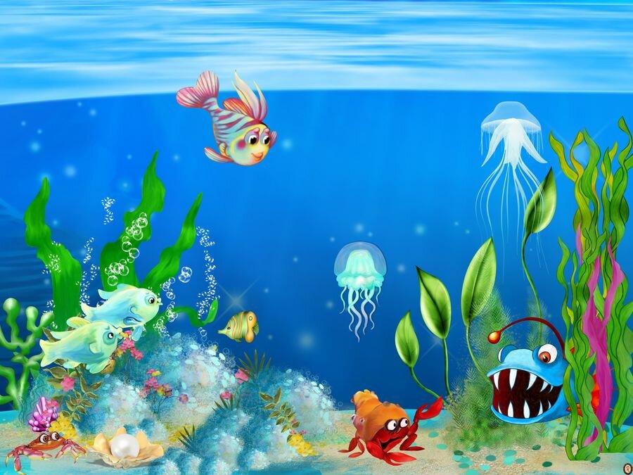 Картинки под водой рисунки