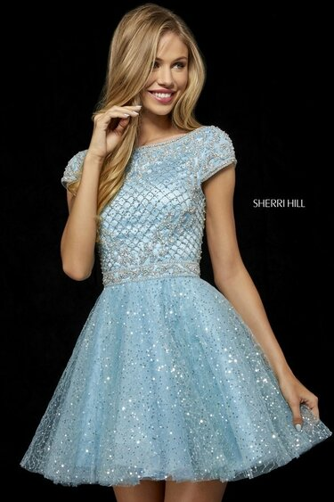 5e790de9fa4 Короткое фиолетовое выпускное платье Sherri Hill 11171 Periw ...