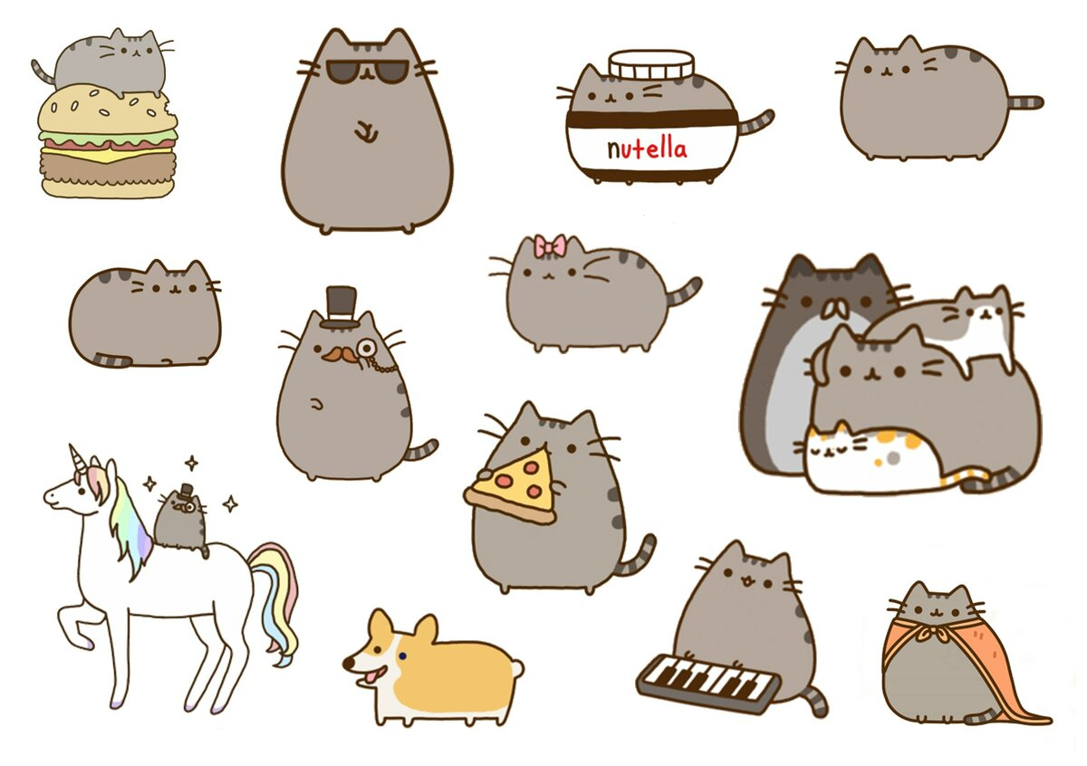 Картинки наклеек котиков