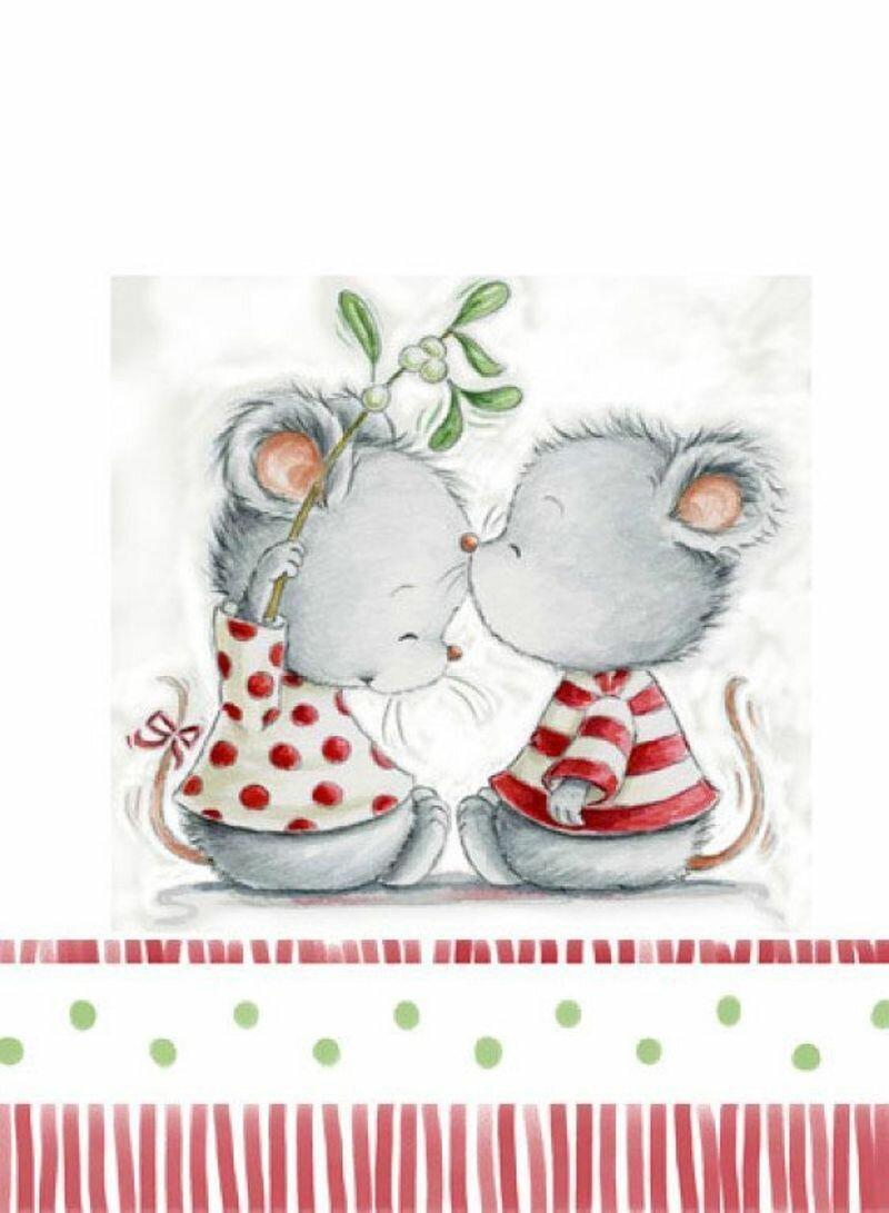 Открытки на новый год с мышками, собирать