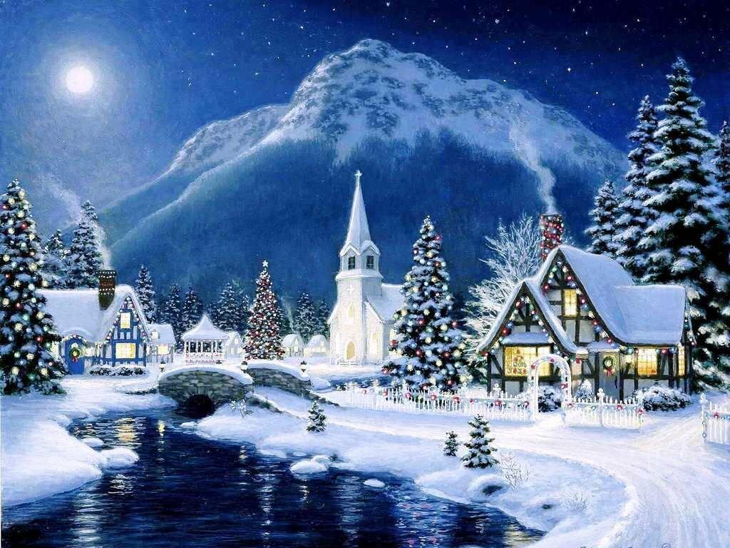 Красивая открытка зимняя сказка