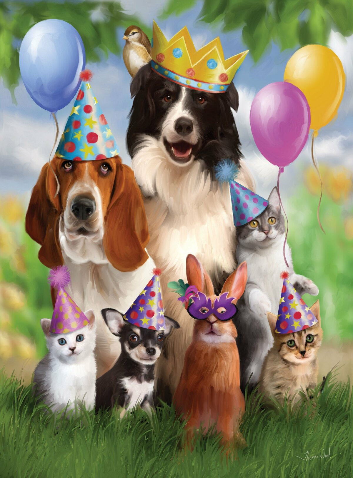 С днем рождения картинки с собаками