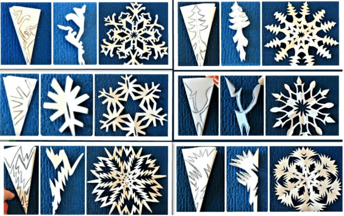 Поздравление, рисунок как делать снежинки