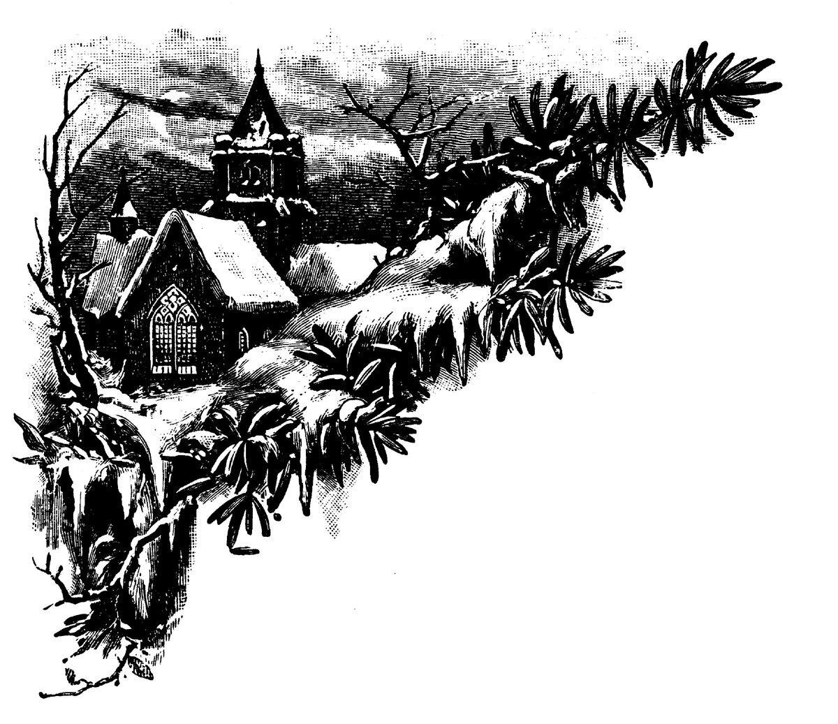 Открытки добрым, новогодняя открытка углем нарисована