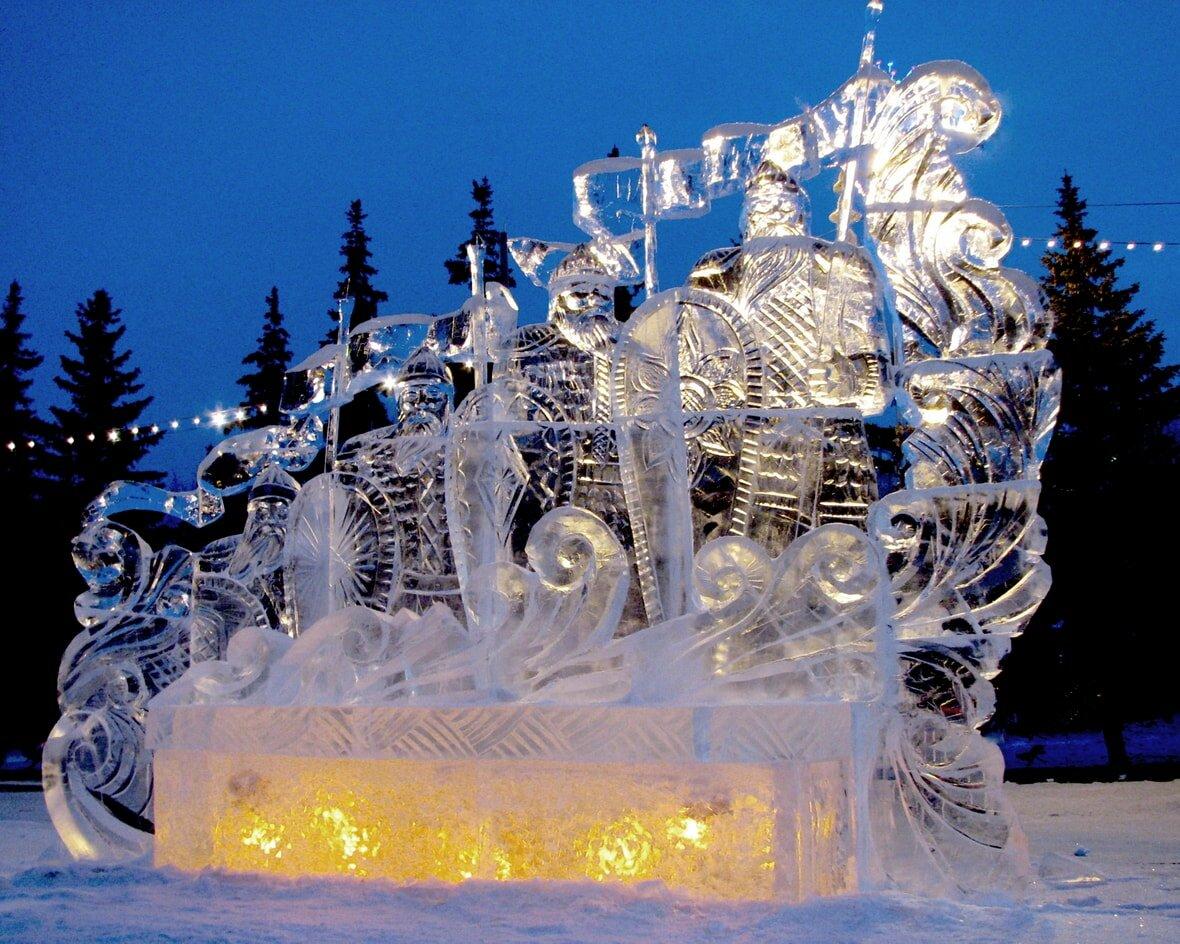 Рисунки ледяные скульптуры