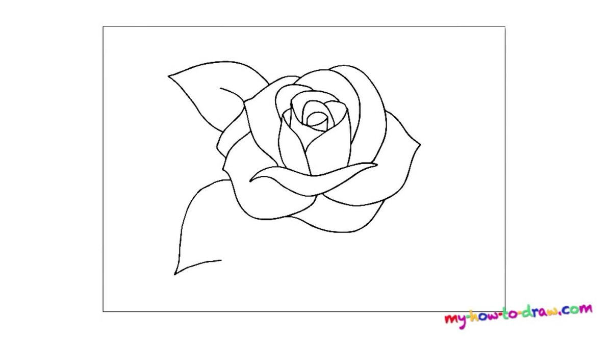Как нарисовать маленькую розу для открытки