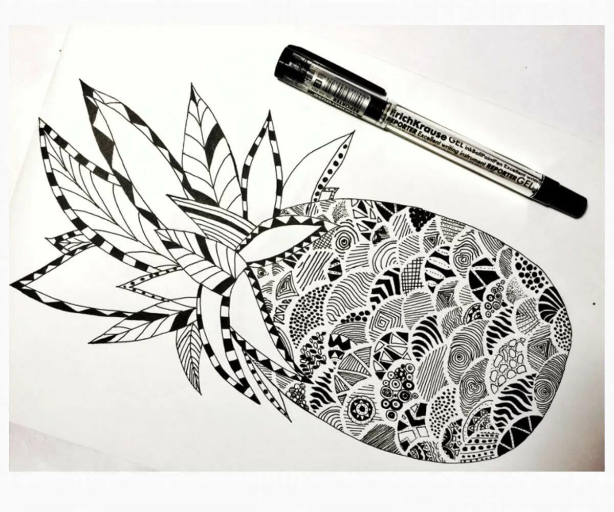 хуш?ол красивые графические картинки фломастерами и гелевыми ручками ремонт реставрация