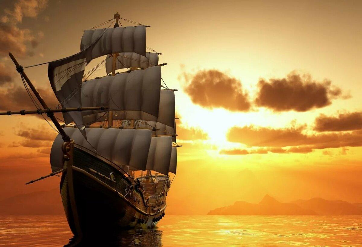 Открытки с видами кораблей, надписями