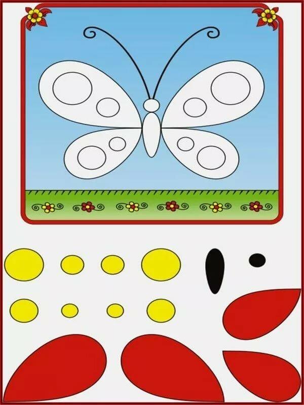 Картинки аппликации для детей 3 лет