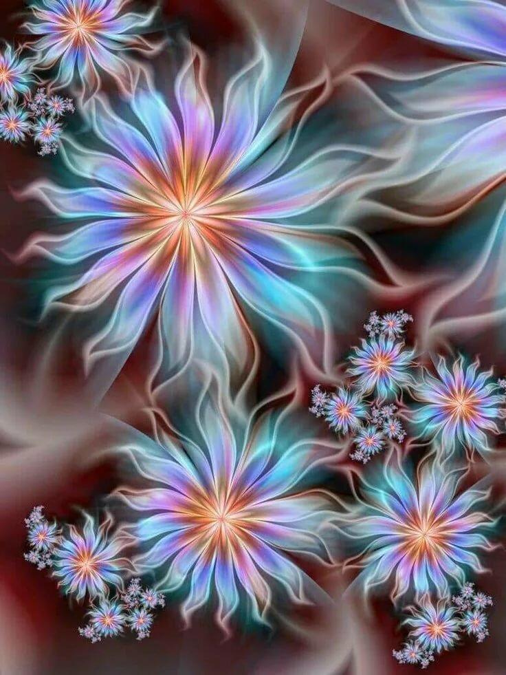 Движущиеся картинки на телефон цветы
