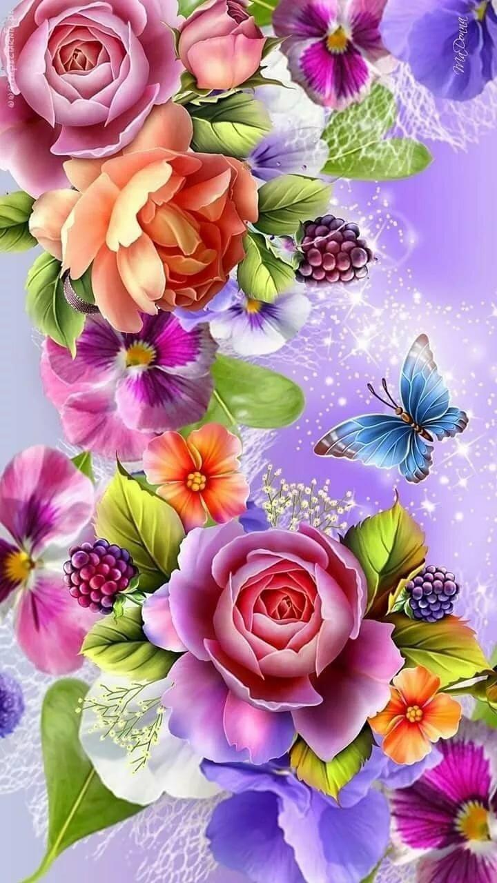 Цветы картинки на телефоны
