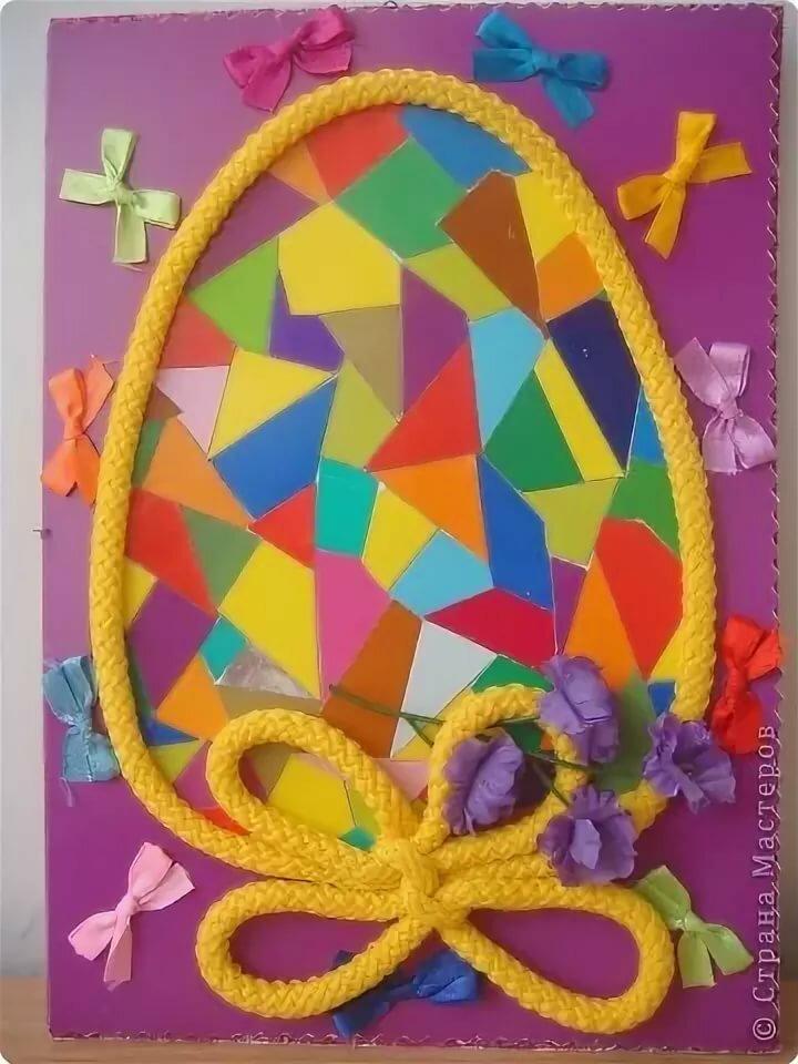 Днем рождения, плетеная открытка из цветной бумаги своими руками