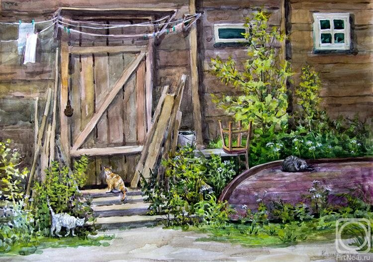 деревенский дом с крыльцом картинки создании спальни
