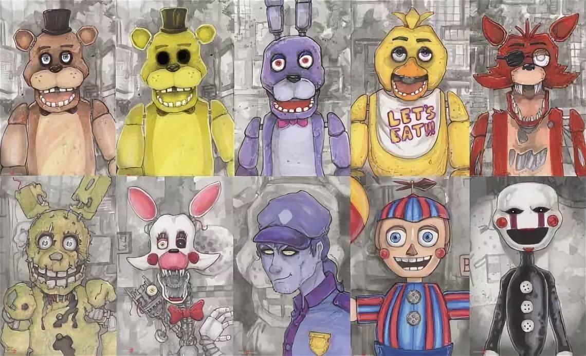 Картинки все герои из фнаф