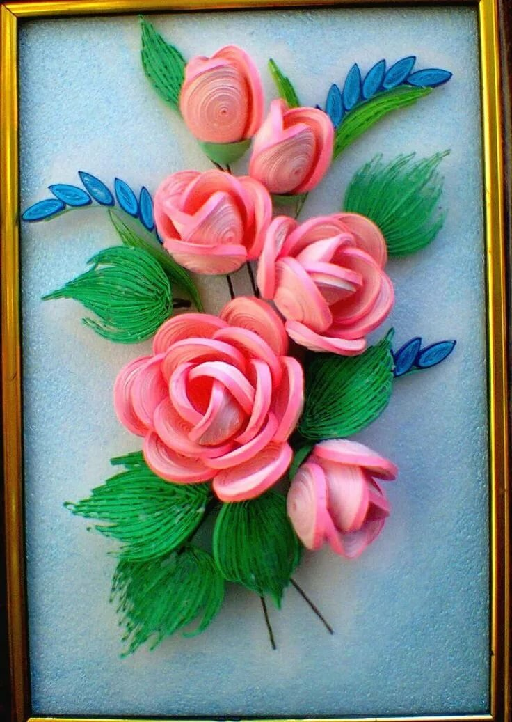 Розы открытки квиллинг, картинки