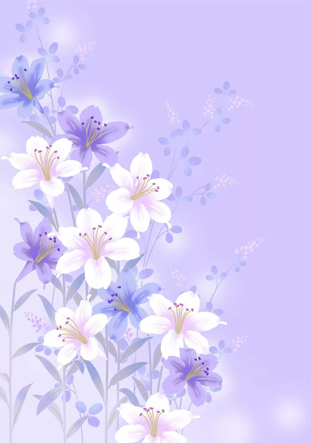 Цветы для открытки на формат а4, моей любимой ирочке