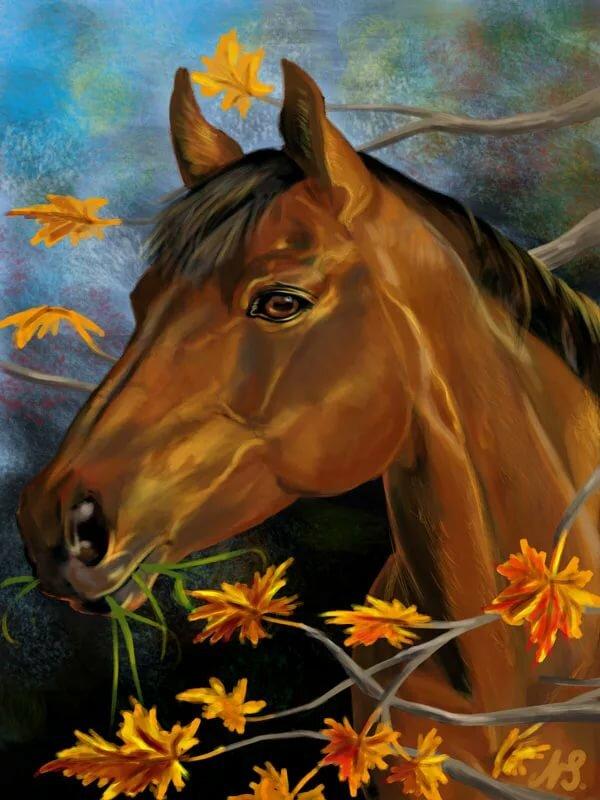 Смешные словами, лошадь открытка