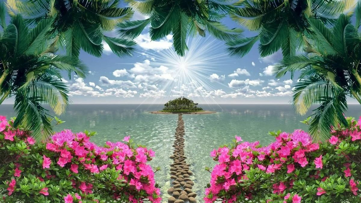 Райский уголок картинки на рабочий стол, день рождения марии
