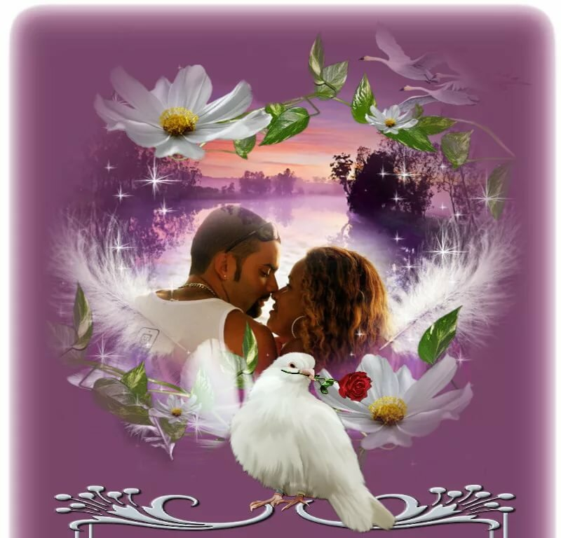 Открытки нежность любви