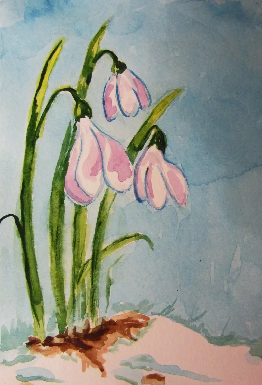 Весна картинки для срисовки